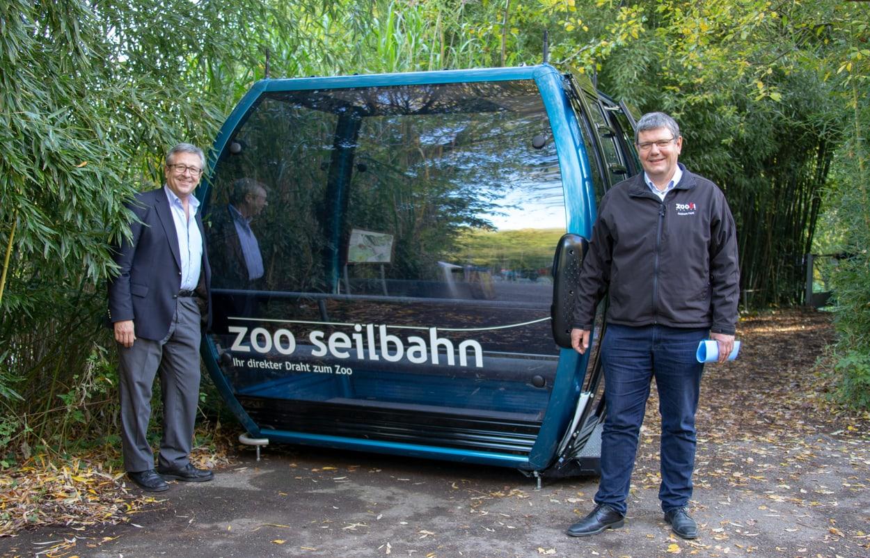 Andres Türler, VR-Präsident Zooseilbahn, und Andreas Hohl, VR-Delegierter.