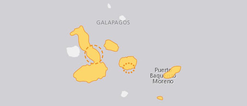Verbreitungskarte Galapagos-Riesenschildkröte