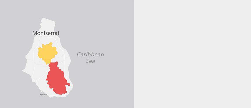 Verbreitungskarte Montserrat-Trupial