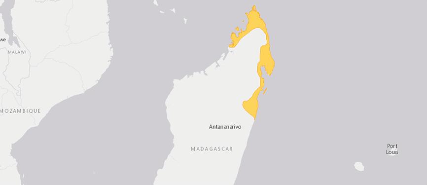 Verbreitungskarte Pantherchamäleon
