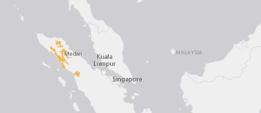 Verbreitungskarte Sumatra-Orang-Utan