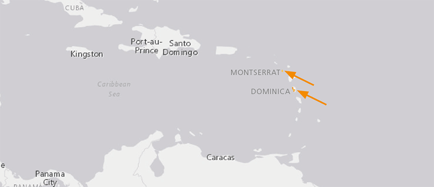 Verbreitungskarte Antillen-Ochsenfrosch