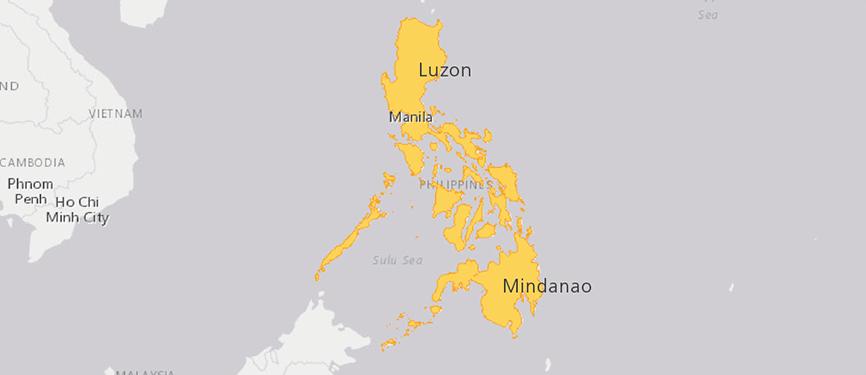 Verbreitungskarte Philippinen-Krokodil