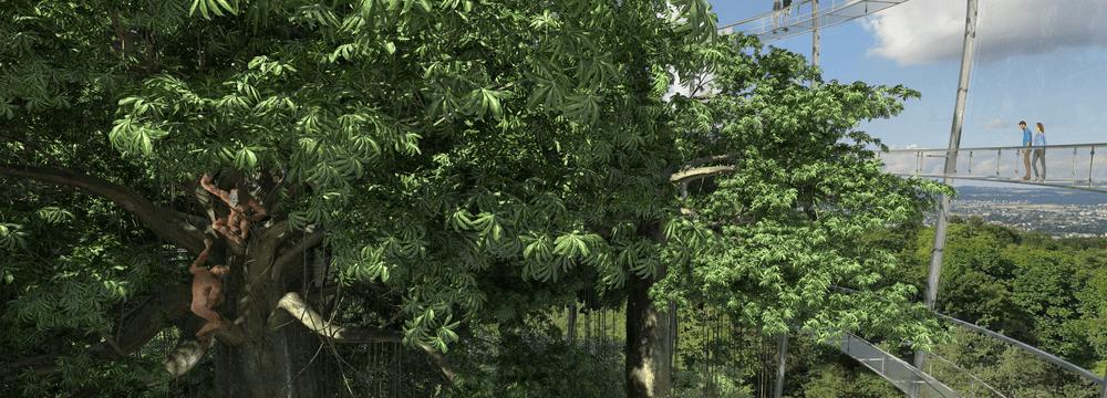 Rendering des Sumatra Regenwald im Zoo Zürich