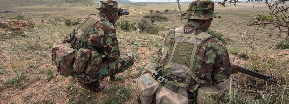 Mitglieder des Anti Poaching Units des Lewa Wildlife Conservany in Kenia.
