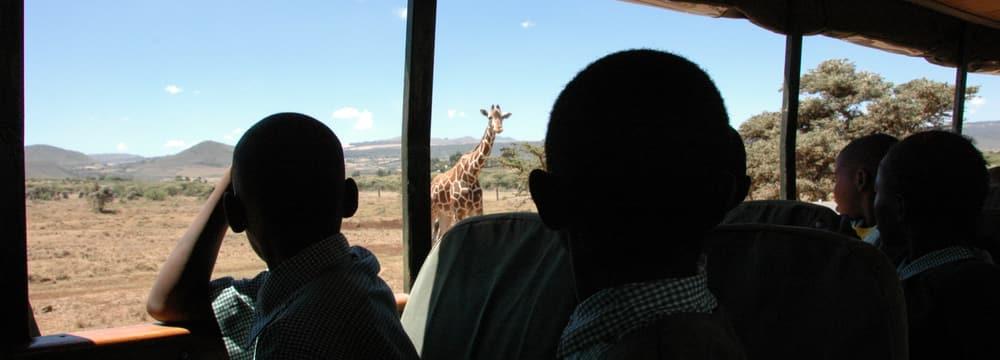Umweltbildung im Lewa Wildlife Conservancy in Kenia.