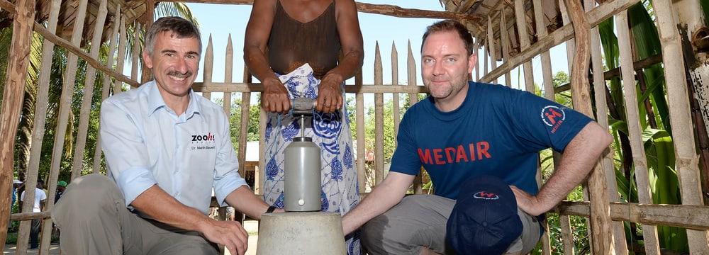 Sauberes Wasser für Menschen in der Masoala Region.