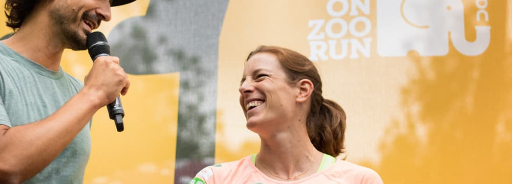 Nicola Spirig am On Zoo Run 2017 im Zoo Zürich.