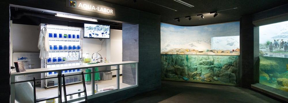 Aqualabor im Aquarium des Zoo Zürich.