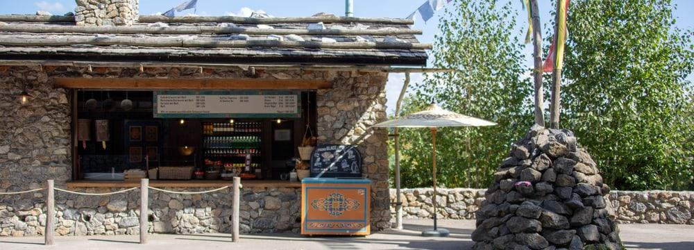 Himalaya-Kiosk im Zoo Zürich.