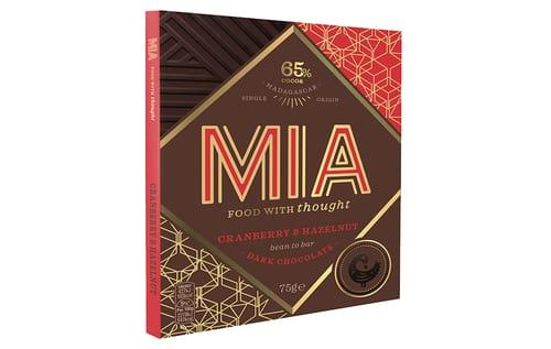 MIA Schokolade Cranberry & Hazelnut