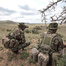 Mitglieder des Anti Poaching Units des Lewa Wildlife Conservany in Kenia.
