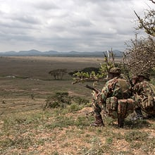 Ranger des Anti Poaching Units im Lewa Wildlife Conservancy.