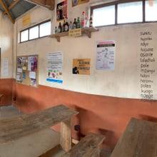 Panorama-Aufnahme der Schule im Lewa-Dorf.