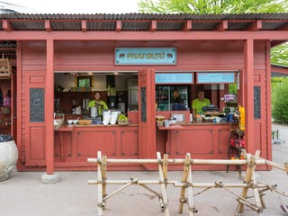 Pranburi-Kiosk im Zoo Zürich