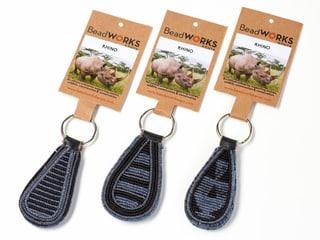 Schlüsselanhänger Rhino von Beadworks Kenya