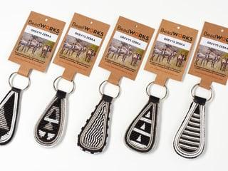 Schlüsselanhänger Zebra von Beadworks Kenya