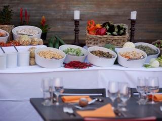 Buffet im Restaurant Pantanal.