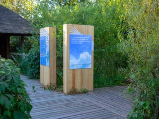 Ausstellung Vogelwiese im Zoo Zürich.