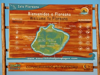 Willkommensschild Floreana