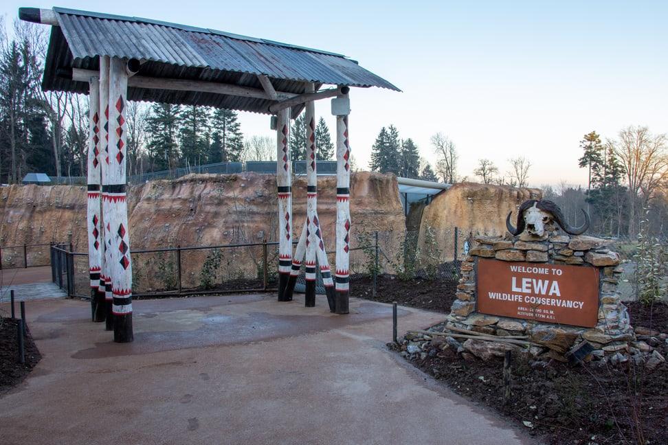 Eingangstor zur Lewa Savanne