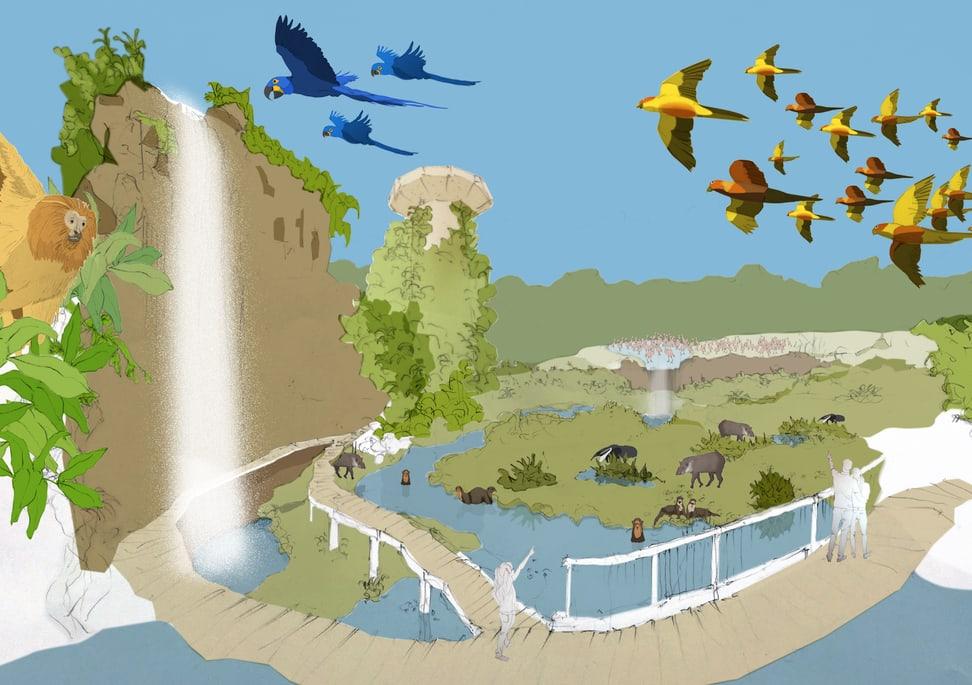 Visualisierung Neugestaltung Pantanal