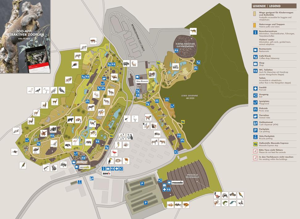 Plan des Zoo Zürich.