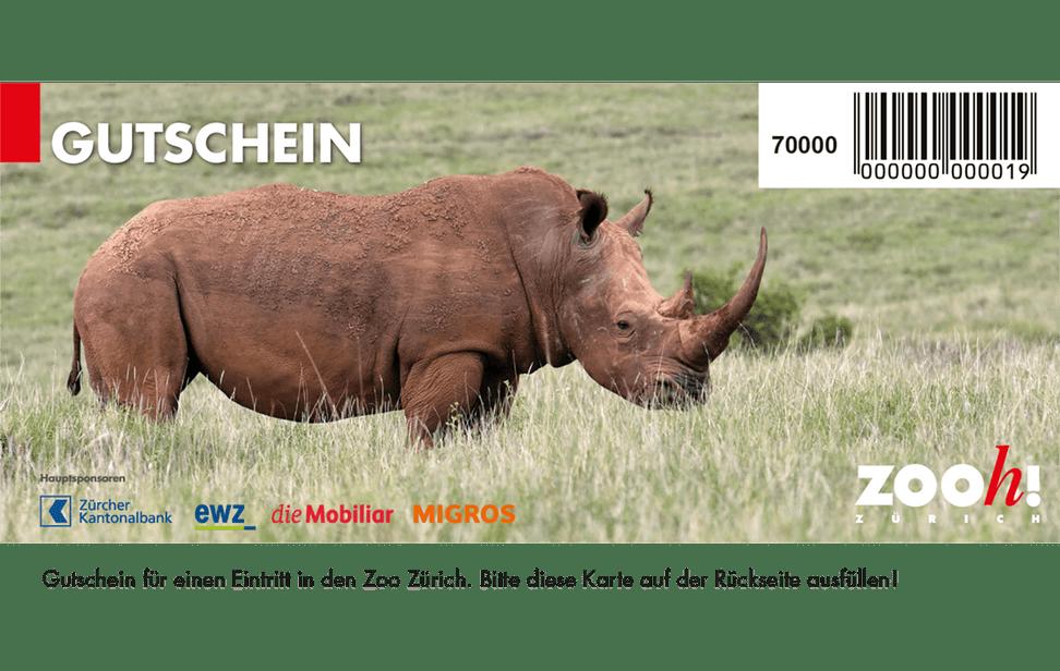 Gutschein Einzeleintritt Zoo Zürich