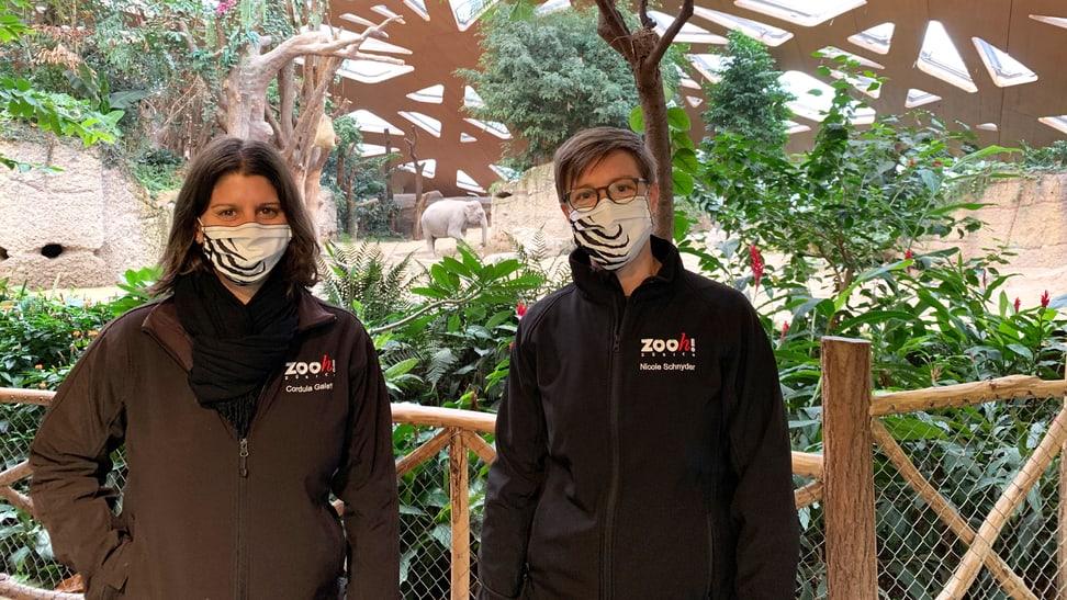 Aufnahmen zum Podcast Elefantenpark mit Nicole Schnyder und Cordula Galeffi