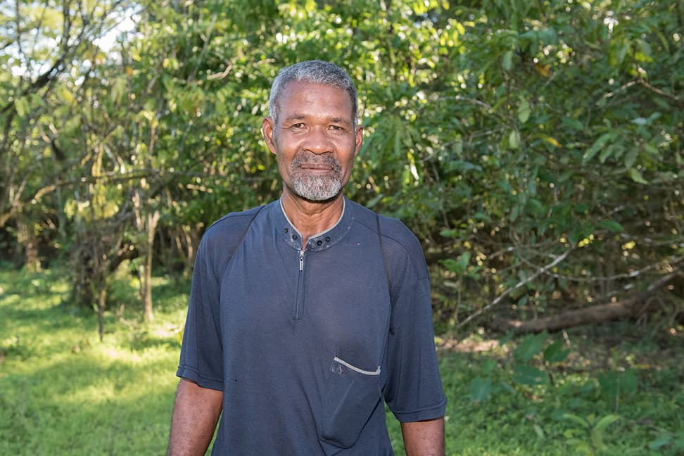 Felestin Randrianjafy, Präsident der Kooperative Kajivola in Ambinanitelo.