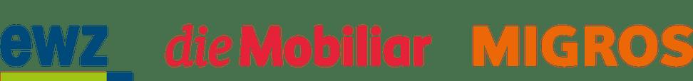 ewz-, Mobiliar-, Migros-Logo