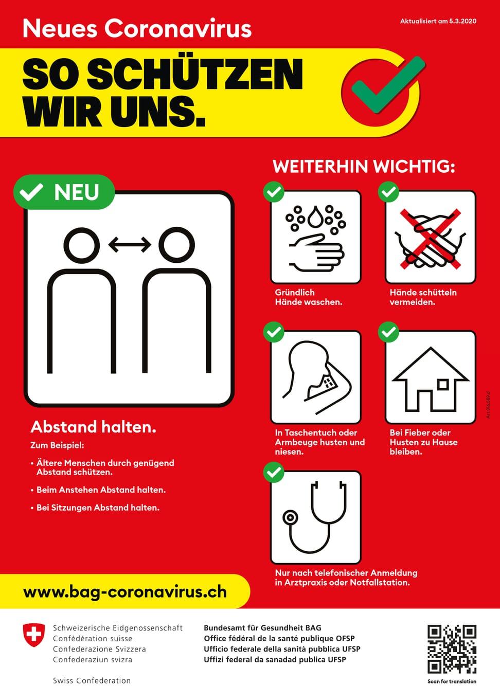 BAG Plakat Coronavirus