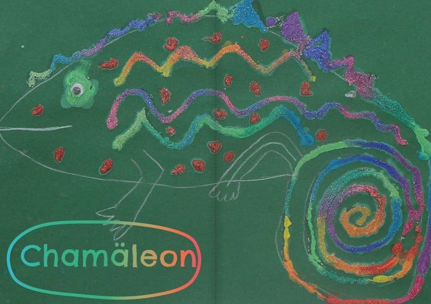 Chamäleon malen Zoo dihei