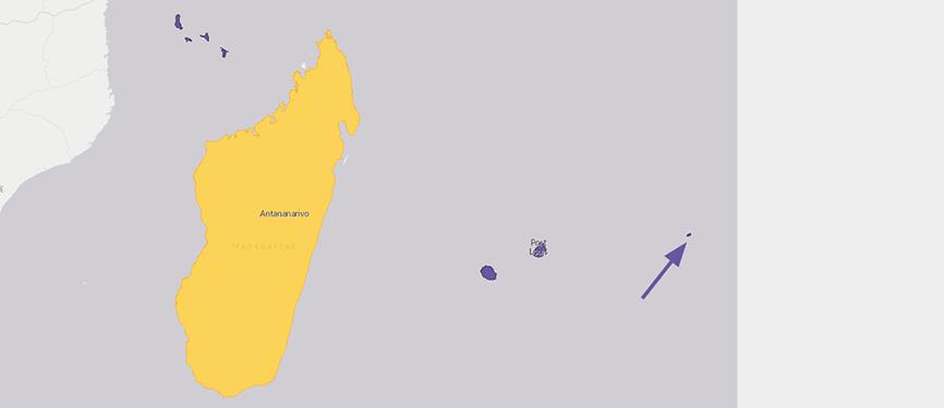 Verbreitungskarte Madagaskarweber