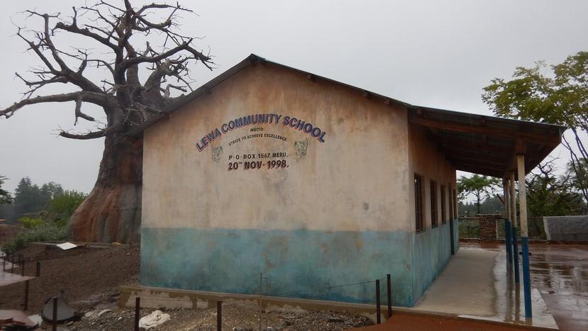 Schule im Lewa-Dorf.