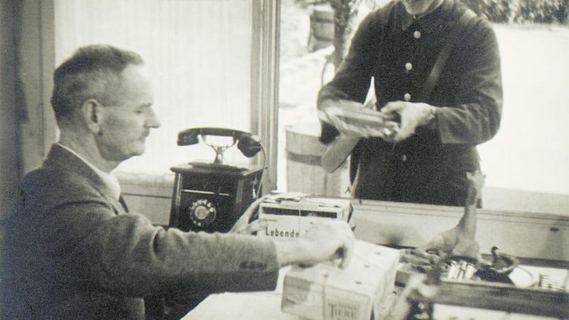 Historische Aufnahmen Zoo Zürich mit Felix Hoffmann.