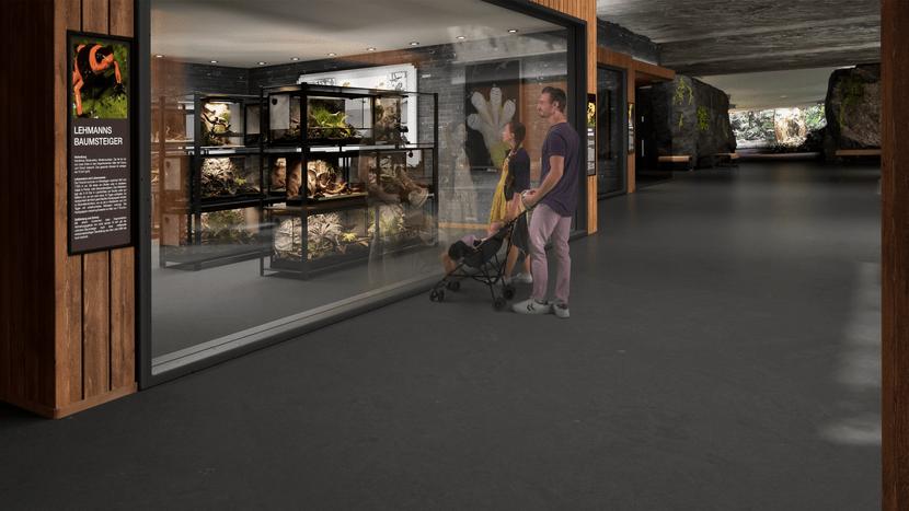 Rendering des Forschungszentrums im Zoo Zürich