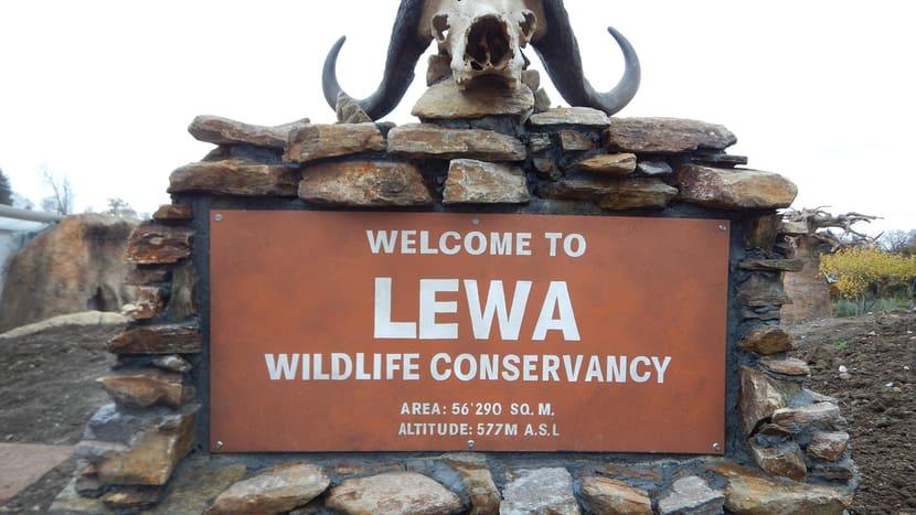 Schild Lewa Savanne im Zoo Zürich.