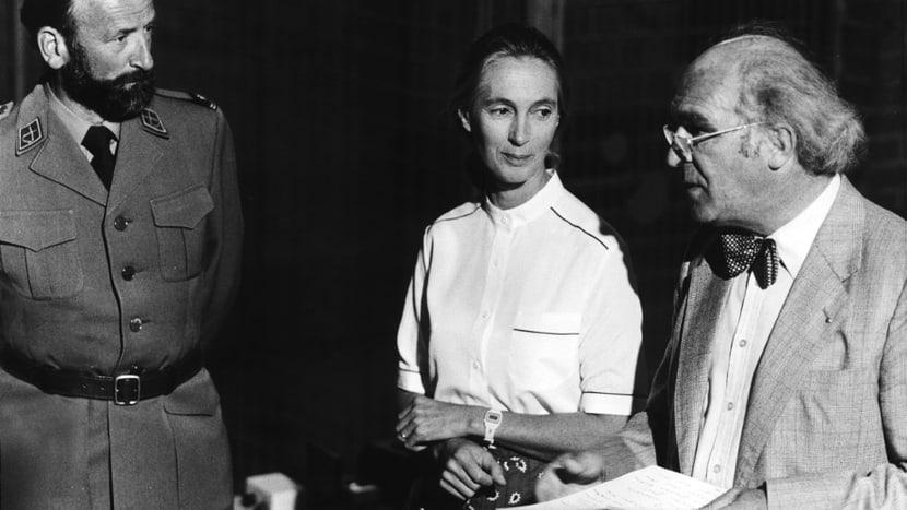 Historische Aufnahme Zoo Zürich mit Jane Goodall