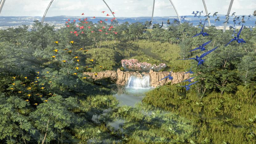 Rendering der Pantanal Voliere im Zoo Zürich