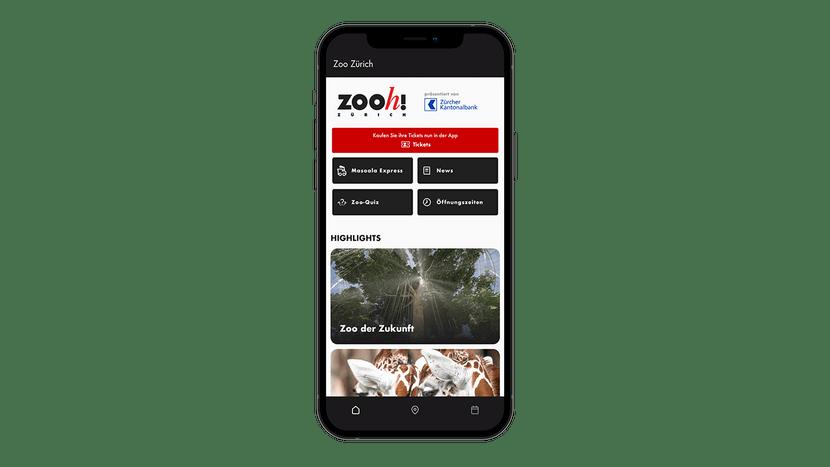 Zoo-App Start-Screen