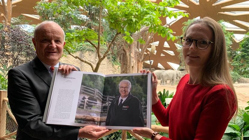 Martin Naville und Simone Bammatter präsentieren das Buch «Habitat».