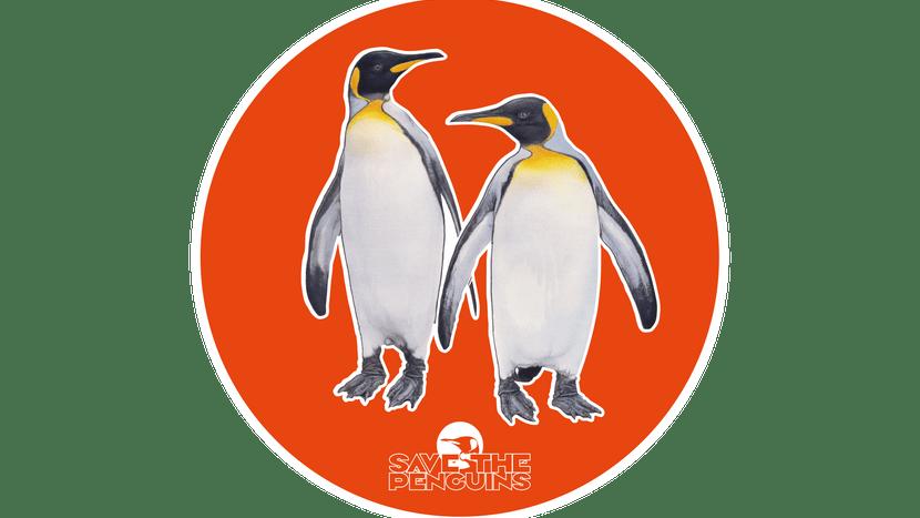 """Scan-Grafik Königspinguin für die App """"Save the Penguins"""""""
