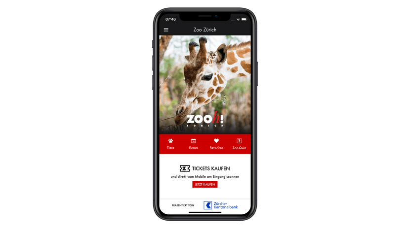 Zoo-App Start-Screen