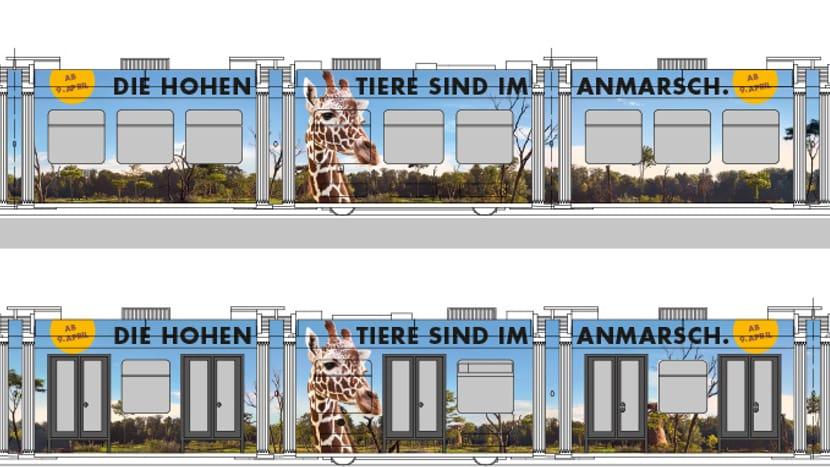Visualisierung des Zoo-Sondertrams Lewa Savanne.