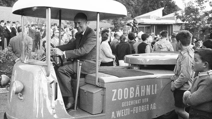 Heini Hediger im Zoo Zürich