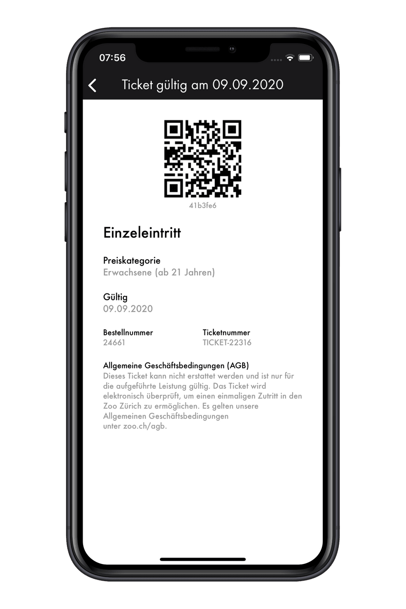 Zoo-App Ticket scannen